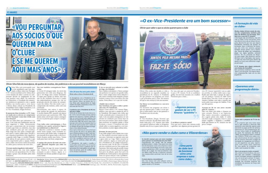 Entrevista com o Presidente do FC Amares